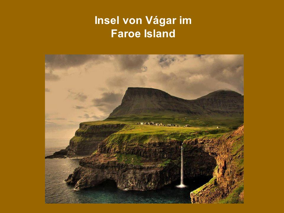 Insel von Vágar im Faroe Island