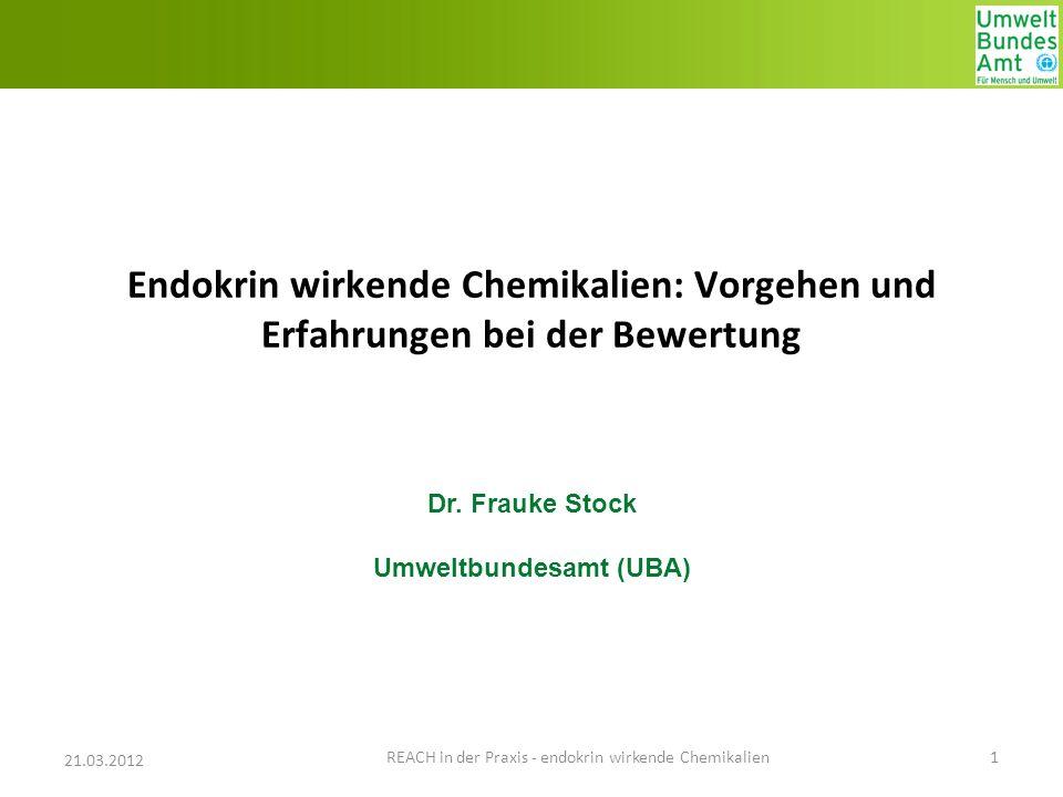 Dr. Frauke Stock Umweltbundesamt (UBA)