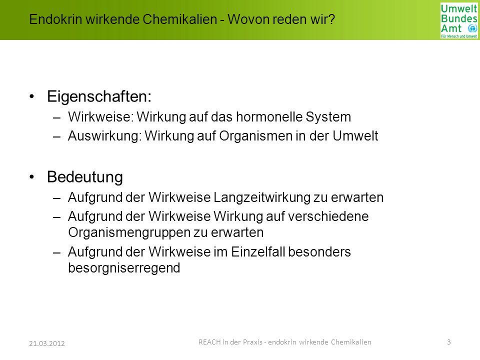 Endokrin wirkende Chemikalien - Wovon reden wir