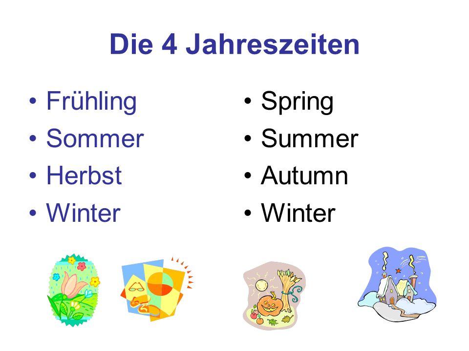 Die 4 Jahreszeiten Frühling Sommer Herbst Winter Spring Summer Autumn
