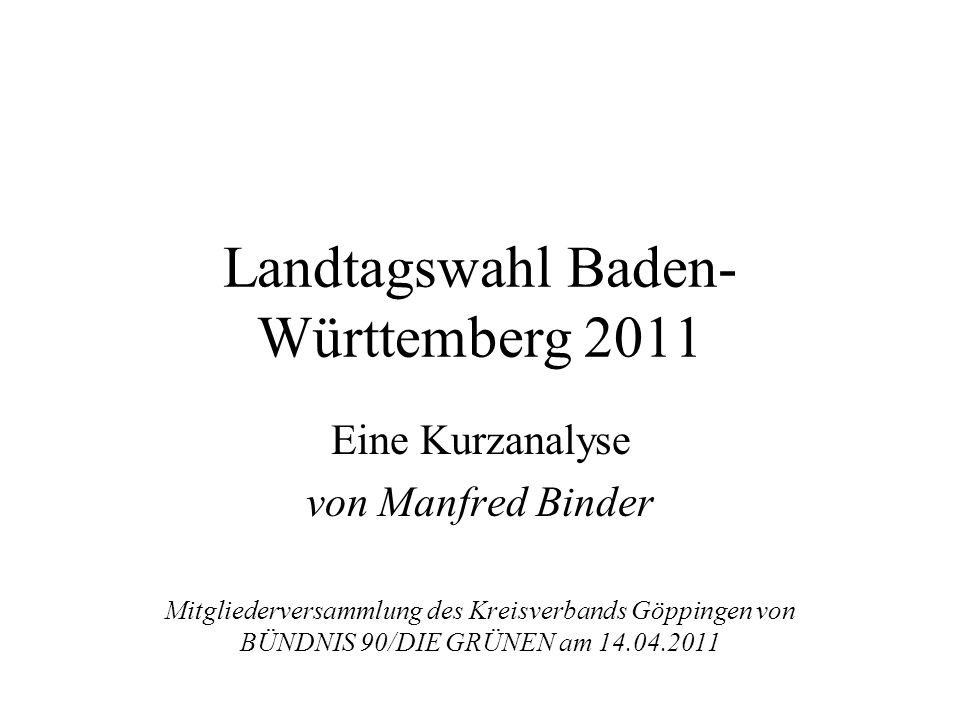 Landtagswahl Baden-Württemberg 2011