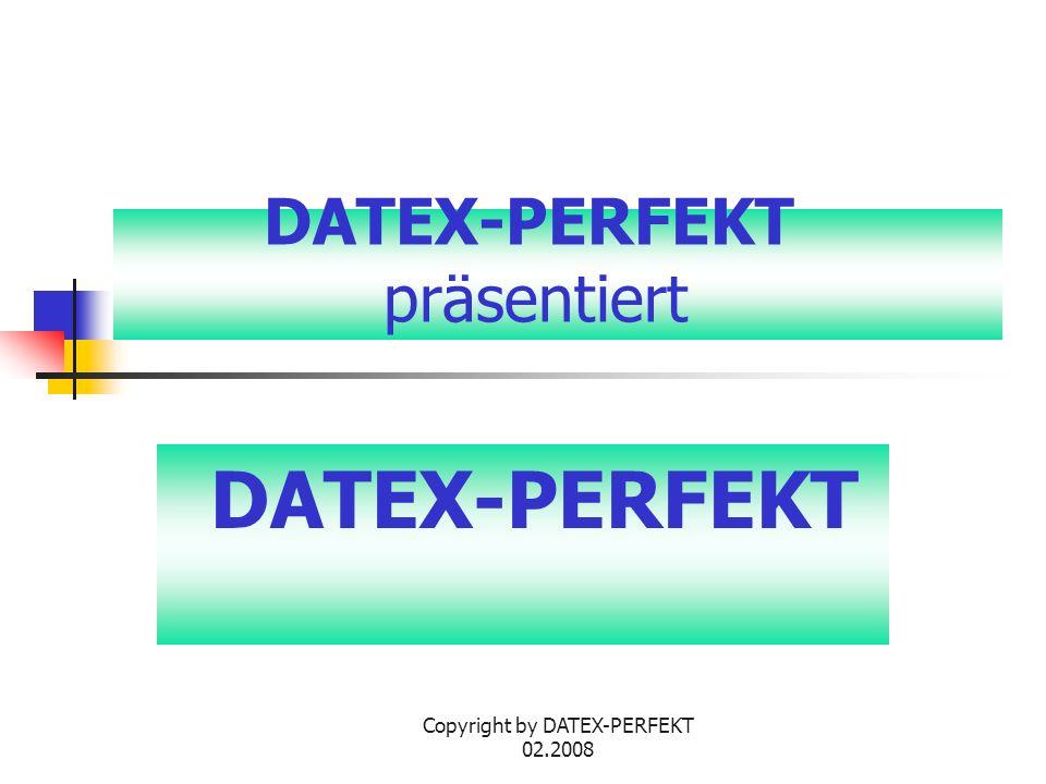 DATEX-PERFEKT präsentiert