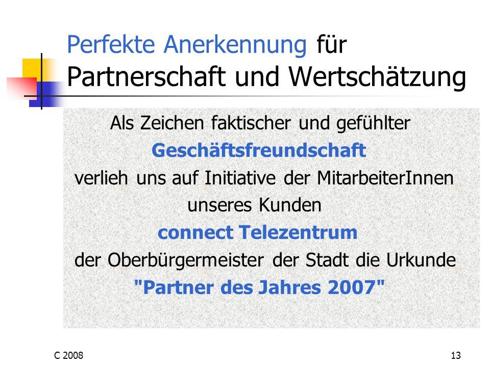 Perfekte Anerkennung für Partnerschaft und Wertschätzung