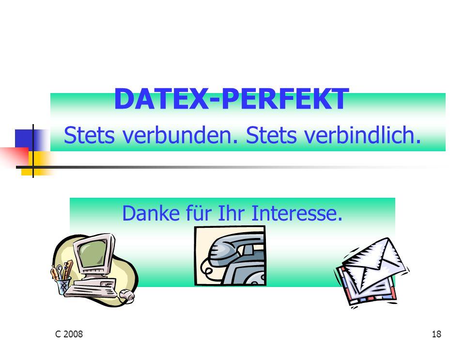 DATEX-PERFEKT Stets verbunden. Stets verbindlich.