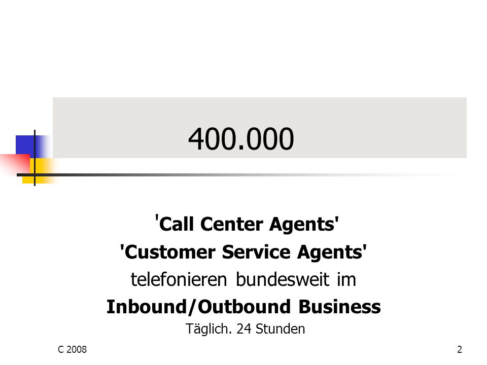 Customer Service Agents Inbound/Outbound Business
