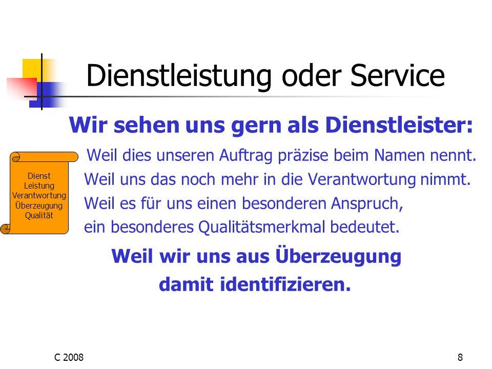 Dienstleistung oder Service