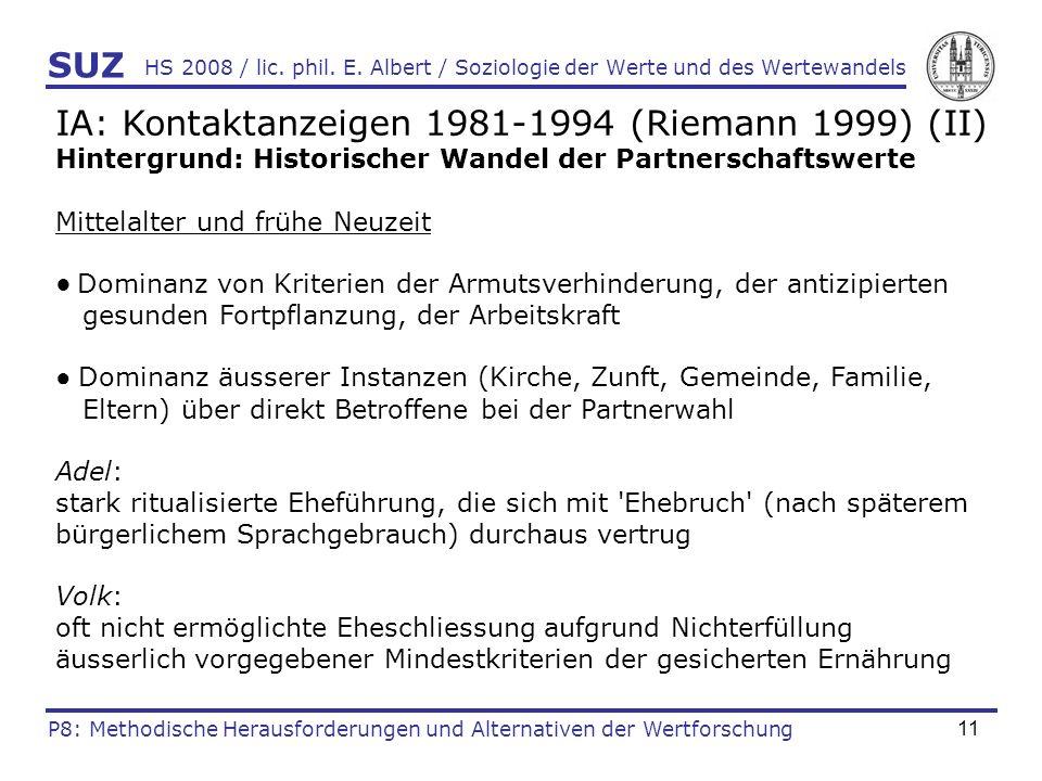 IA: Kontaktanzeigen 1981-1994 (Riemann 1999) (II)