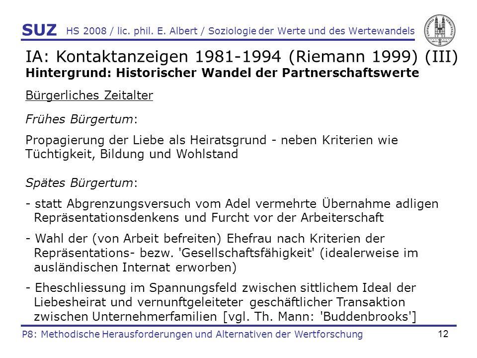 IA: Kontaktanzeigen 1981-1994 (Riemann 1999) (III)