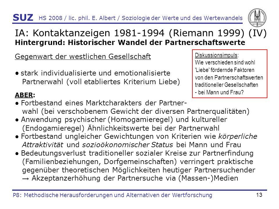 IA: Kontaktanzeigen 1981-1994 (Riemann 1999) (IV)