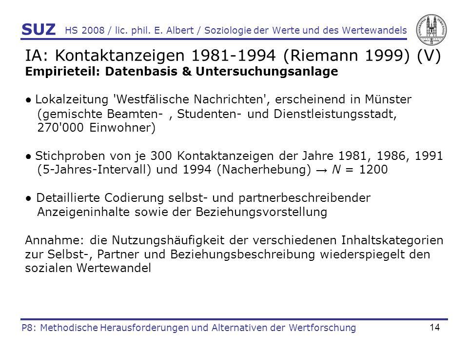 IA: Kontaktanzeigen 1981-1994 (Riemann 1999) (V)