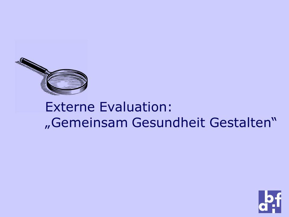 """Externe Evaluation: """"Gemeinsam Gesundheit Gestalten"""