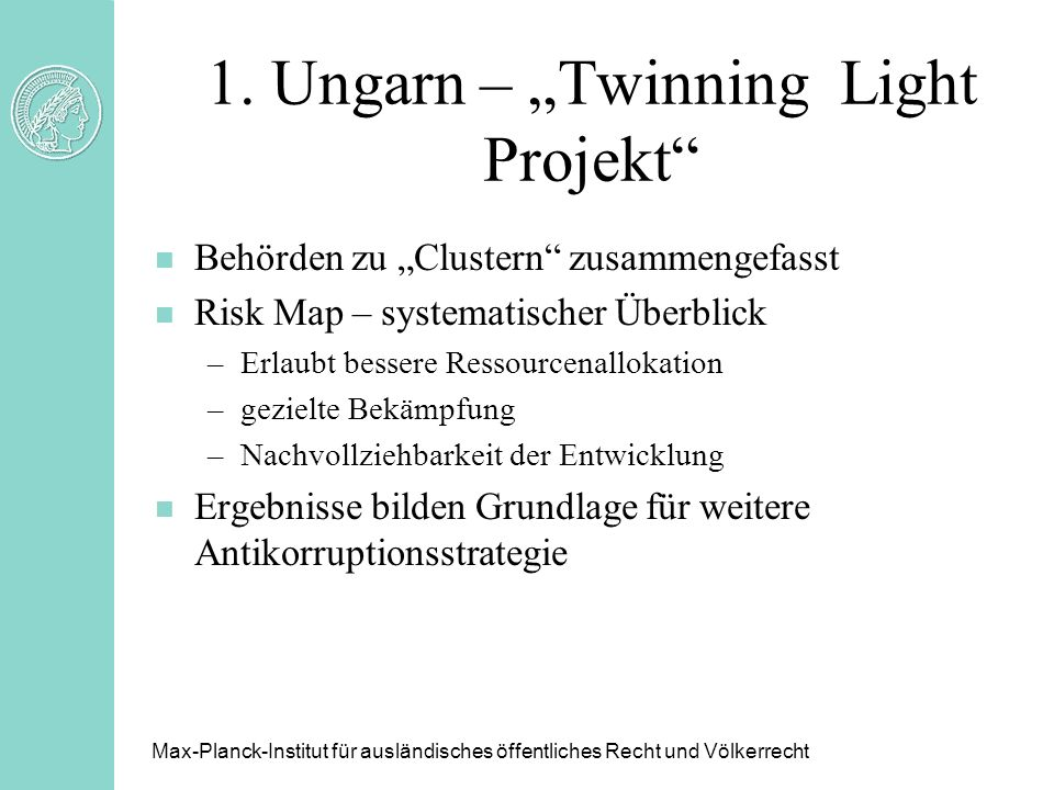 "1. Ungarn – ""Twinning Light Projekt"