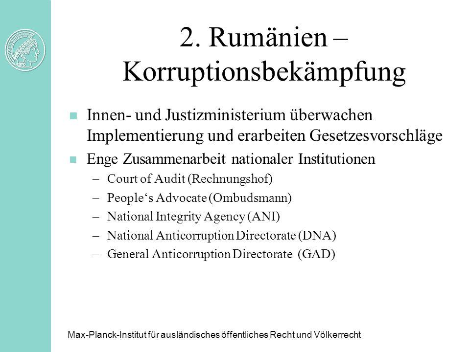 2. Rumänien – Korruptionsbekämpfung