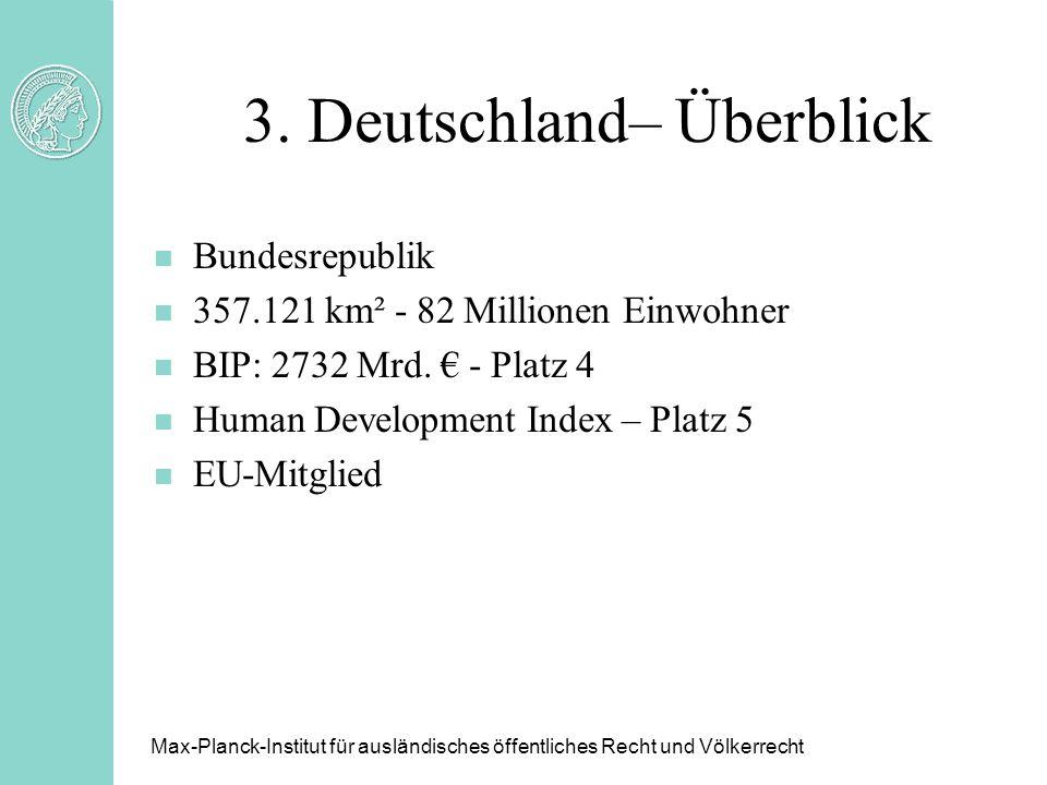 3. Deutschland– Überblick