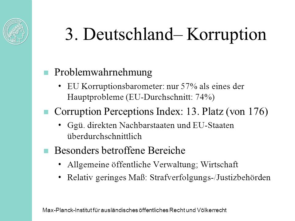 3. Deutschland– Korruption
