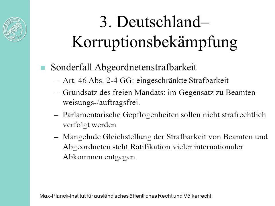 3. Deutschland– Korruptionsbekämpfung