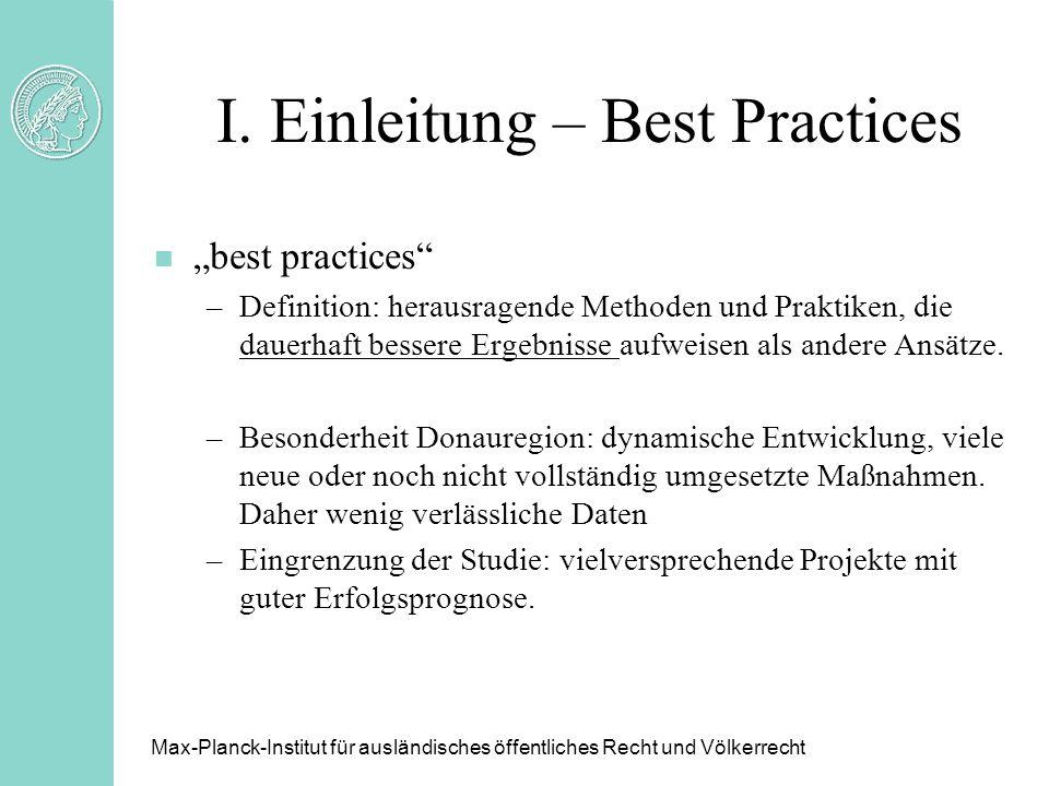 I. Einleitung – Best Practices