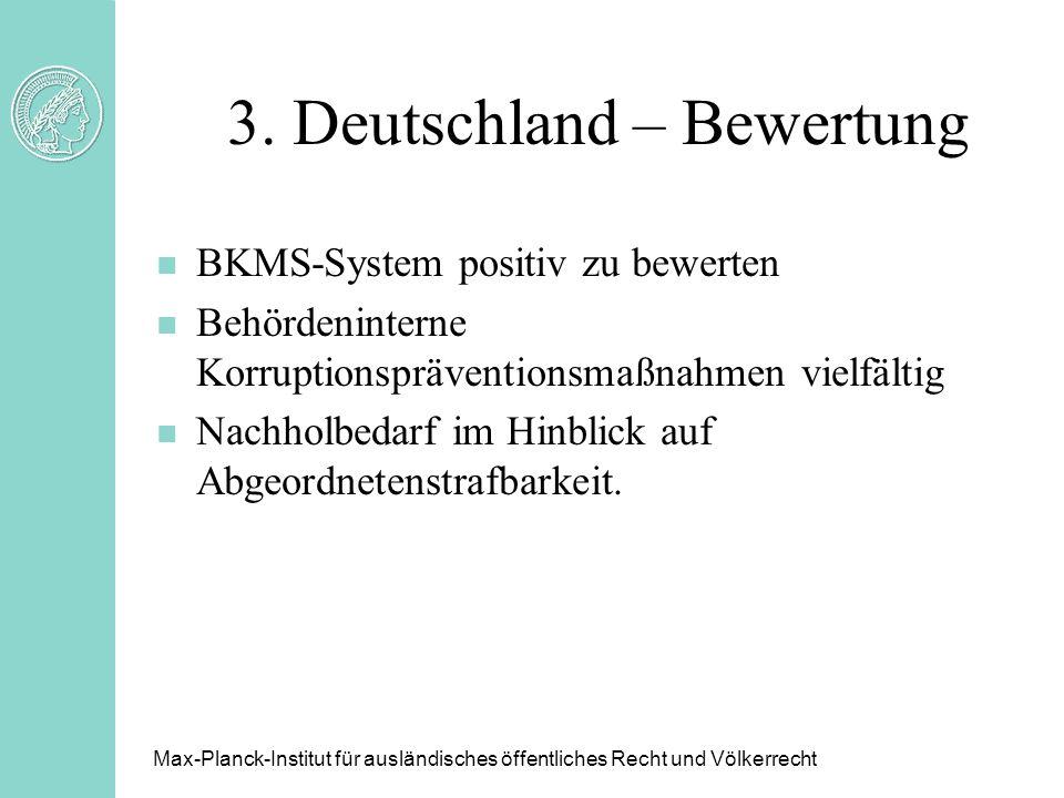 3. Deutschland – Bewertung