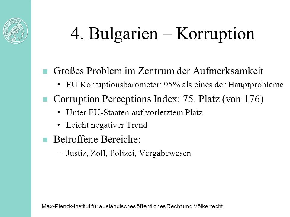 4. Bulgarien – Korruption