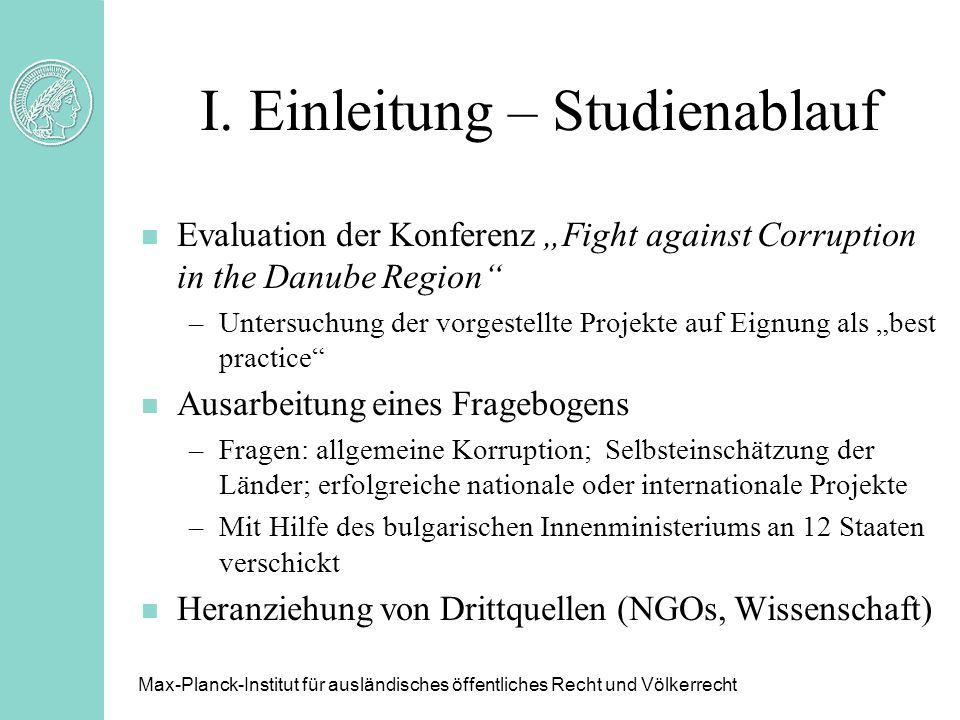 I. Einleitung – Studienablauf