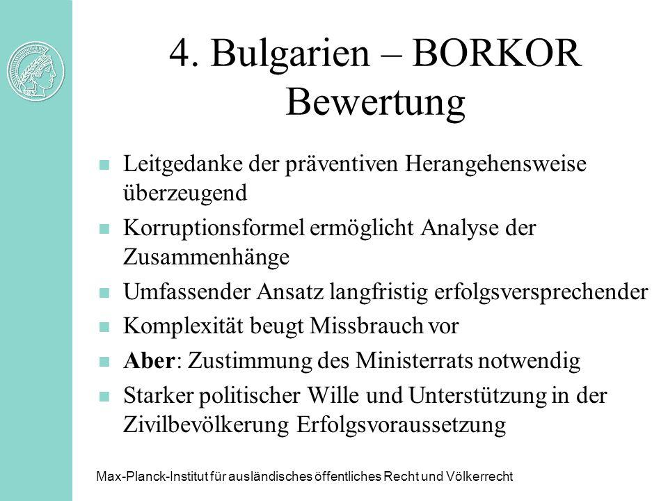 4. Bulgarien – BORKOR Bewertung