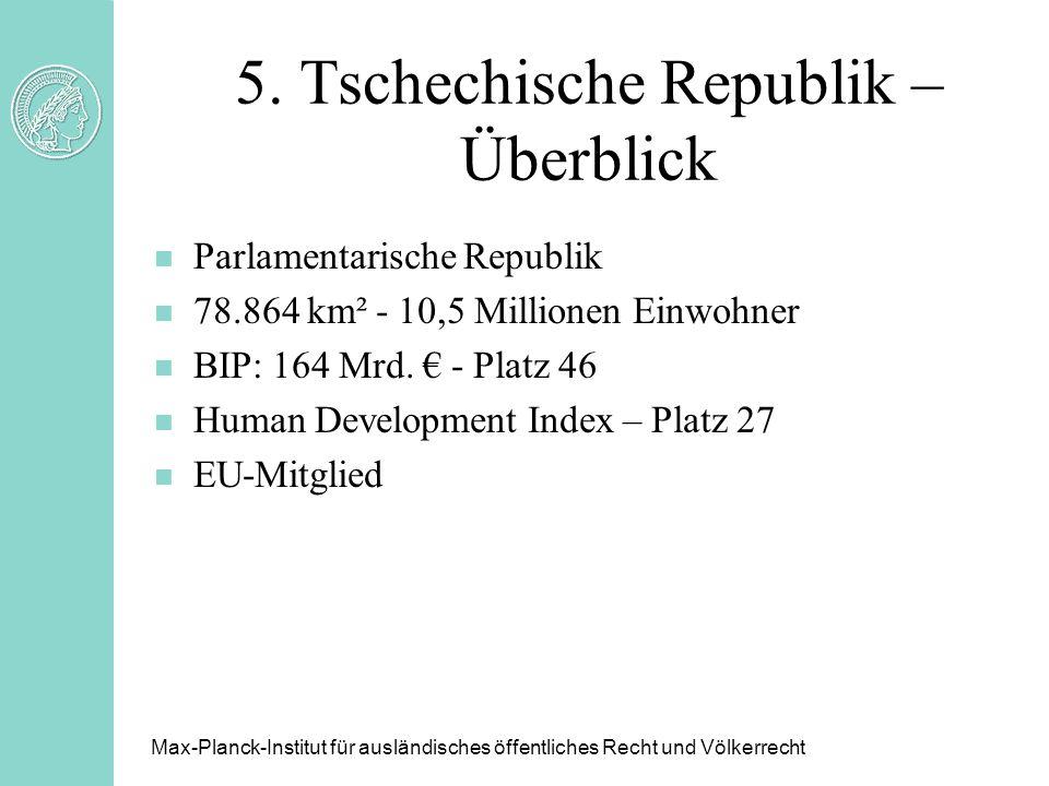 5. Tschechische Republik – Überblick