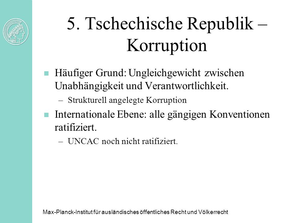 5. Tschechische Republik – Korruption