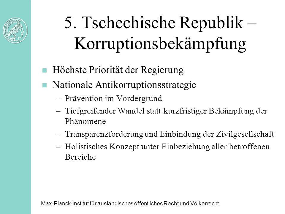 5. Tschechische Republik – Korruptionsbekämpfung