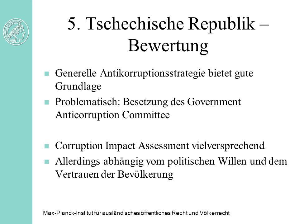 5. Tschechische Republik – Bewertung