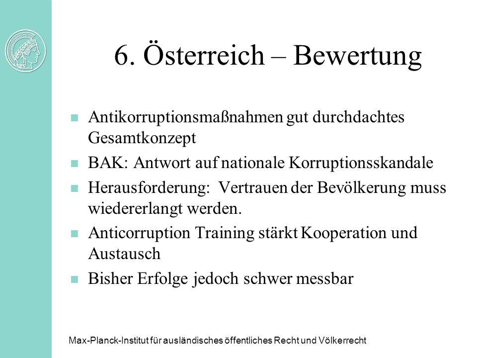 6. Österreich – Bewertung