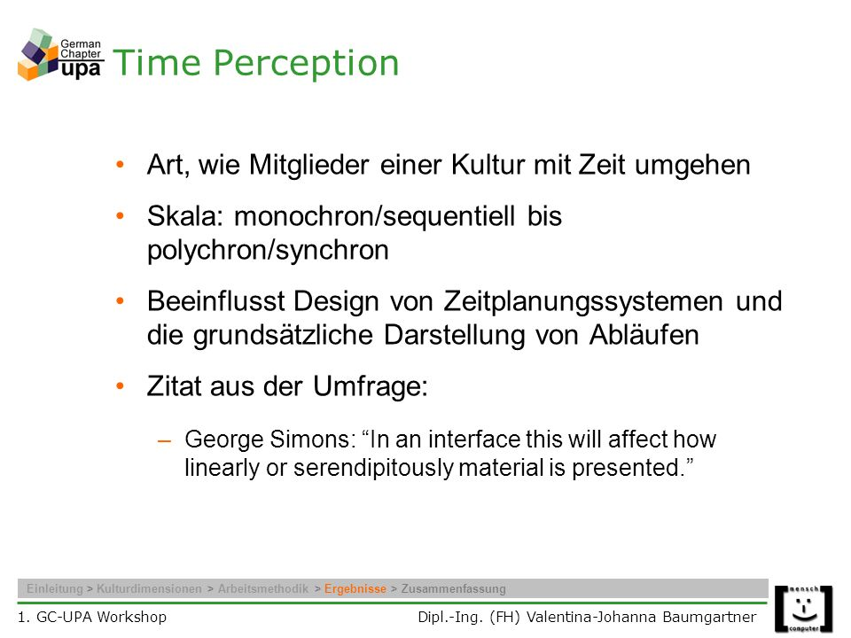 Time Perception Art, wie Mitglieder einer Kultur mit Zeit umgehen