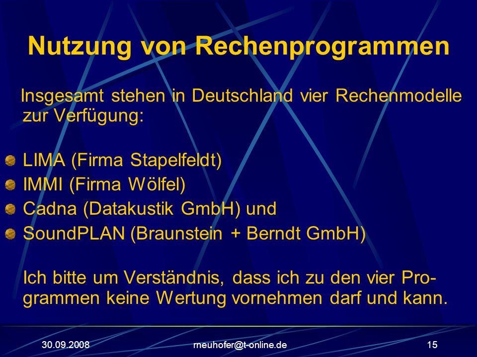Nutzung von Rechenprogrammen