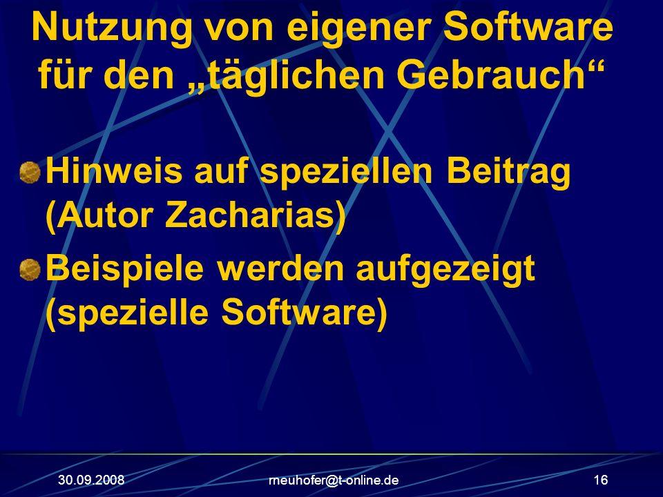 """Nutzung von eigener Software für den """"täglichen Gebrauch"""
