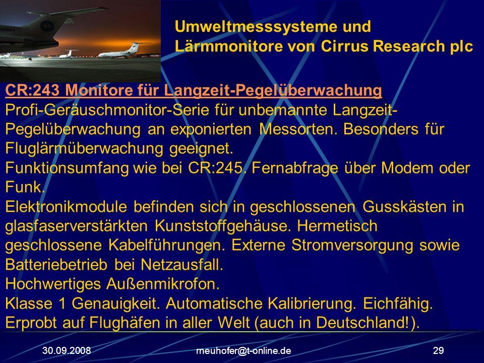 Umweltmesssysteme und Lärmmonitore von Cirrus Research plc