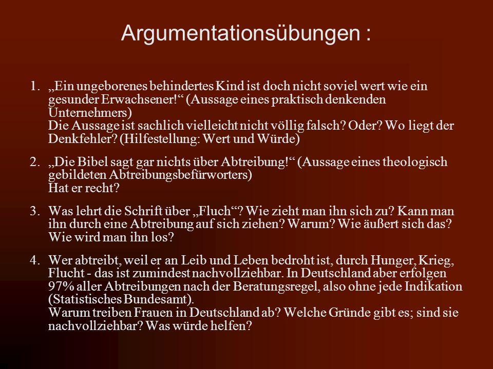Argumentationsübungen :