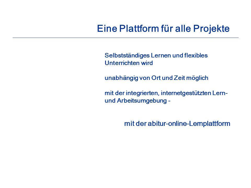 Eine Plattform für alle Projekte
