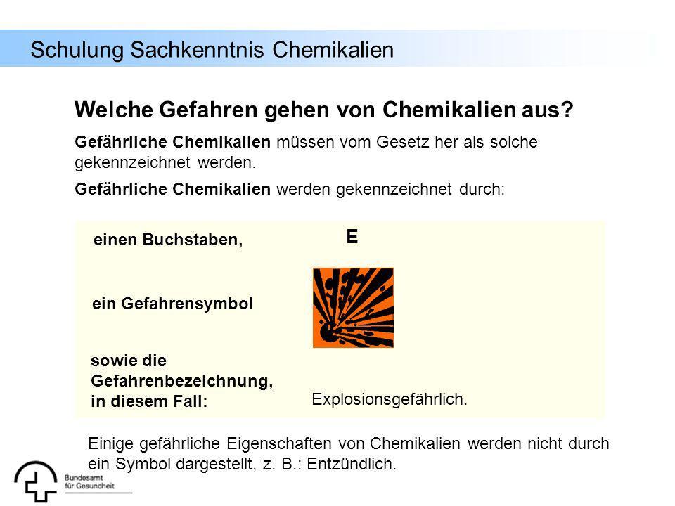 Welche Gefahren gehen von Chemikalien aus