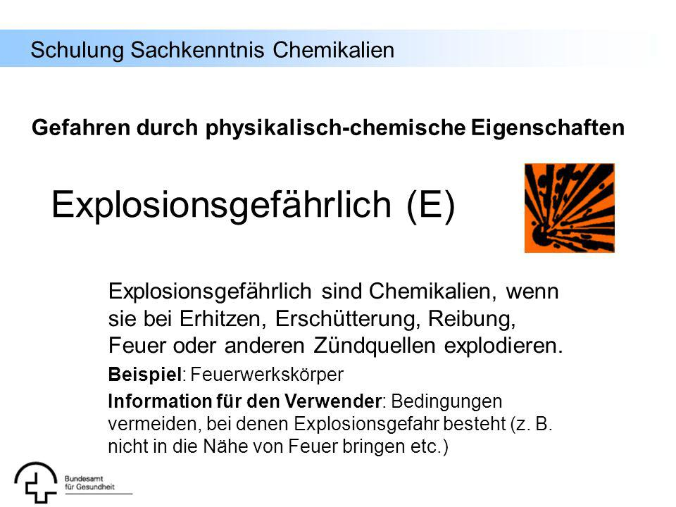 Explosionsgefährlich (E)