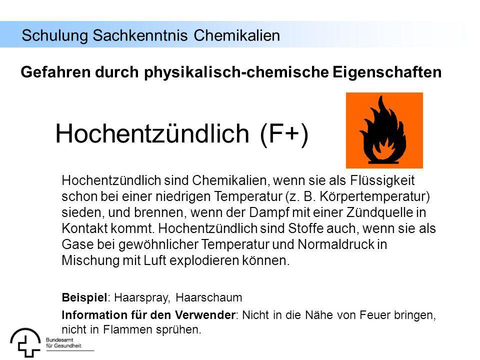 Gefahren durch physikalisch-chemische Eigenschaften