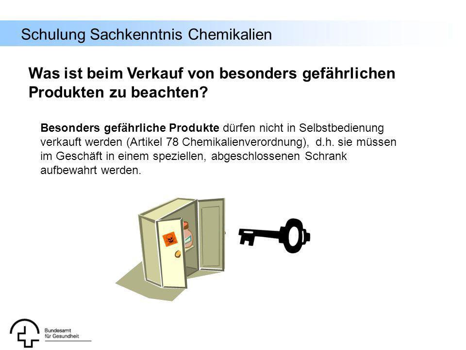 Was ist beim Verkauf von besonders gefährlichen Produkten zu beachten
