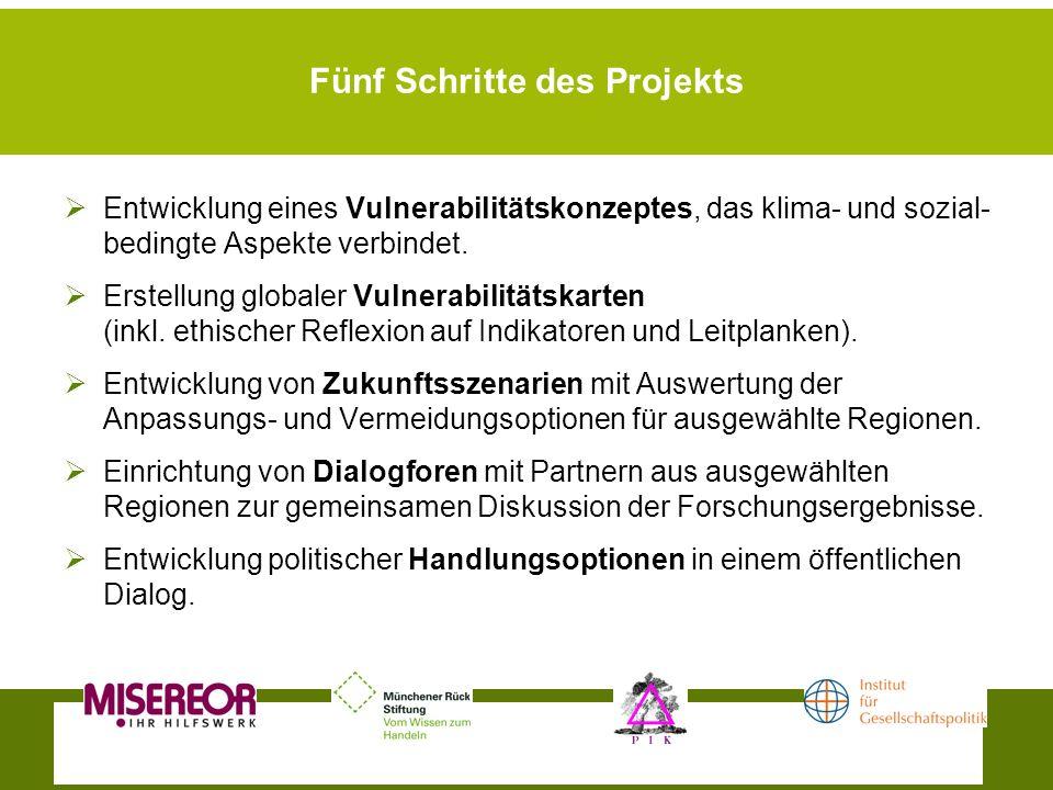 Fünf Schritte des Projekts