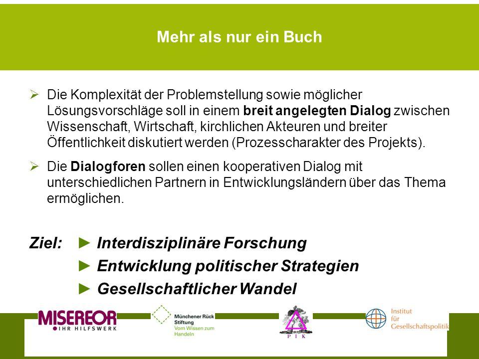 Ziel: ► Interdisziplinäre Forschung