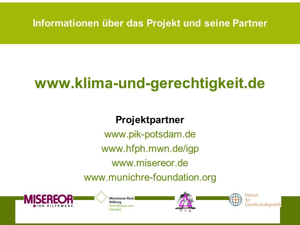 Informationen über das Projekt und seine Partner