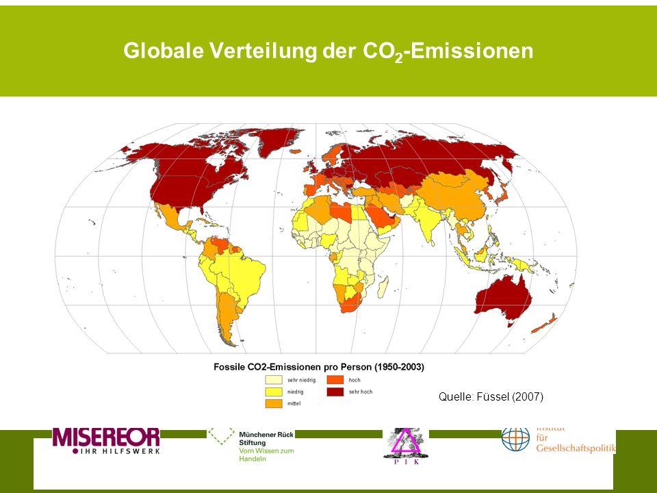 Globale Verteilung der CO2-Emissionen