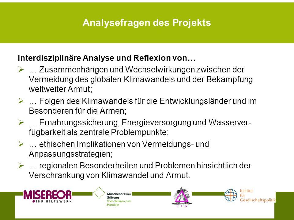 Analysefragen des Projekts