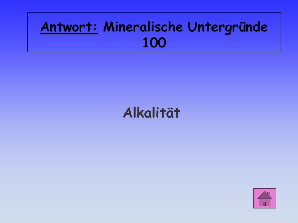 Antwort: Mineralische Untergründe 100