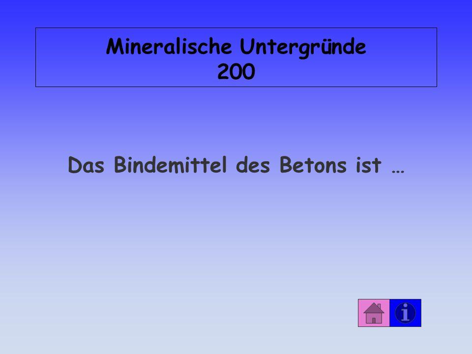 Mineralische Untergründe 200