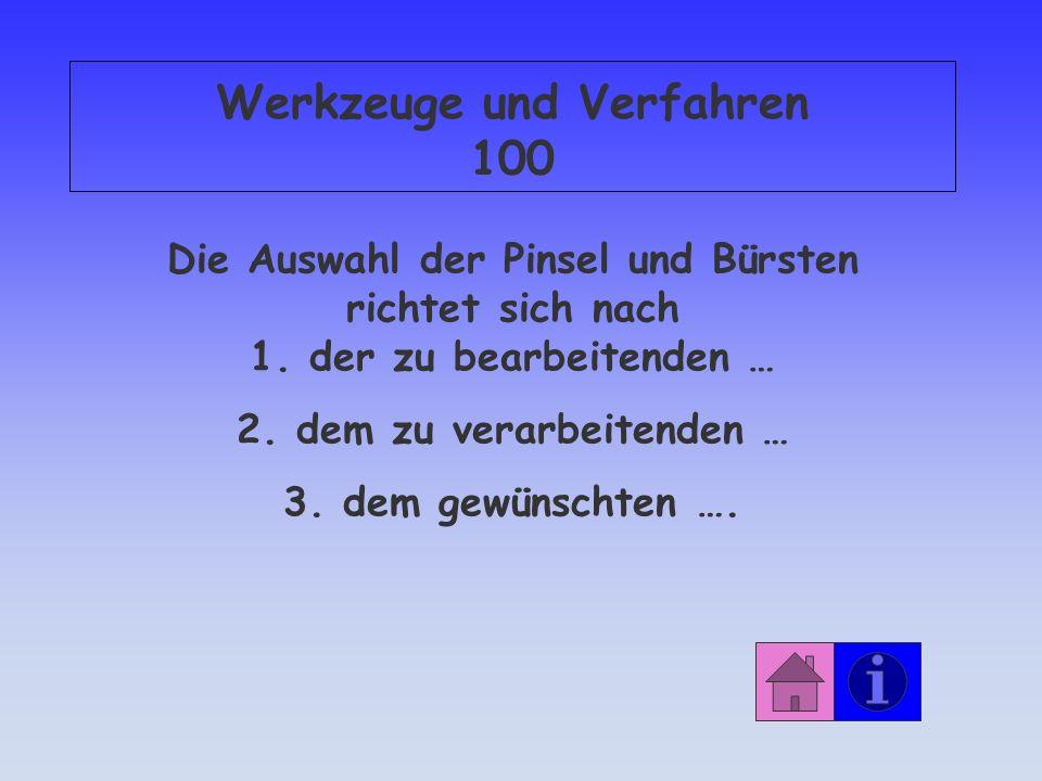 Werkzeuge und Verfahren 100