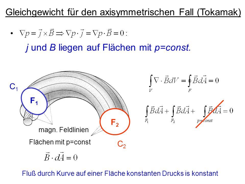 Gleichgewicht für den axisymmetrischen Fall (Tokamak)