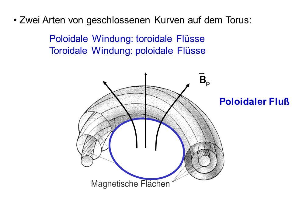 Zwei Arten von geschlossenen Kurven auf dem Torus: